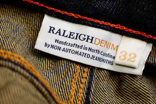 Raleigh Denim label