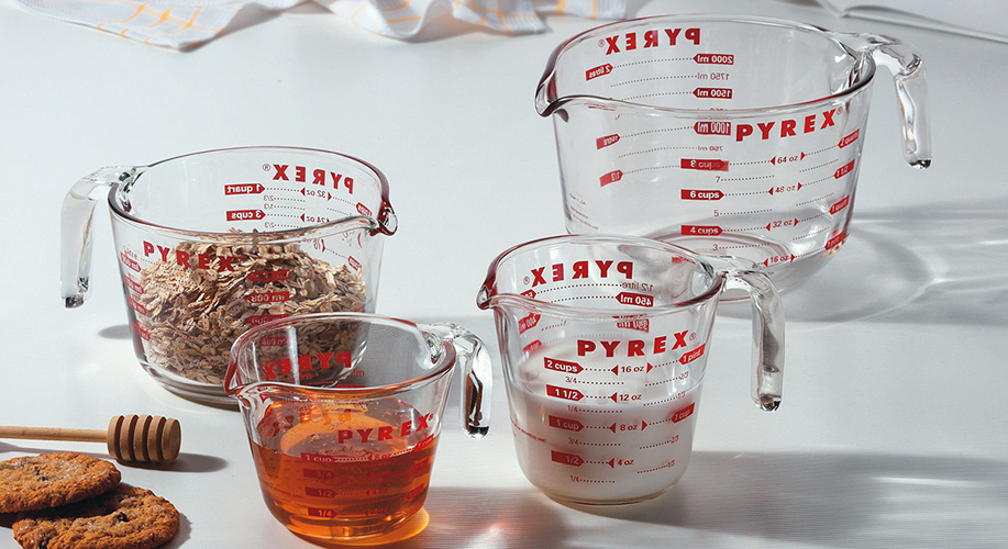 measuring cups by pyrex found in the fifty. Black Bedroom Furniture Sets. Home Design Ideas