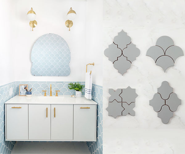 Recycled Glass and Clay Tile by Fireclay Tile | Found In The